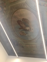 The ceiling of the Michelangelo Room, also known as my classroom.